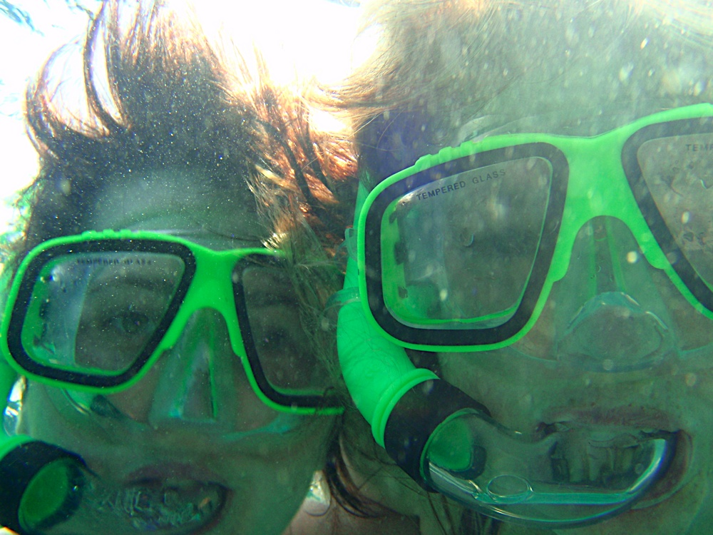 Snorkelling - 1 sec prior to Ez's jellyfish sting