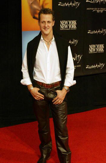 MICHAEL SCHUMACHER leather pants