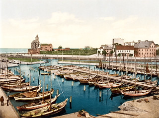 Harbor and pilot station, Colberg, Pomerania, ca. 1895