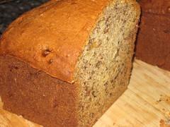 rye(0.0), produce(0.0), sliced bread(0.0), baking(1.0), beer bread(1.0), bread(1.0), pumpkin bread(1.0), rye bread(1.0), whole grain(1.0), baked goods(1.0), banana bread(1.0), food(1.0), brown bread(1.0), soda bread(1.0), sourdough(1.0),