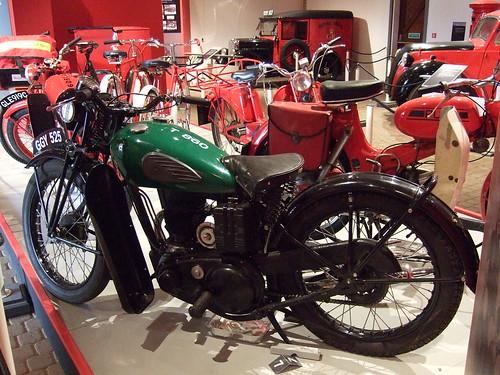 BSA Bantam motorcycle (1965) - Front view