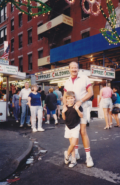 My grandfather and I, Little Italy, 1990