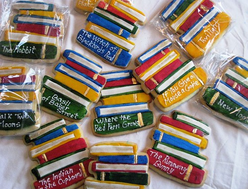Stacked book cookies