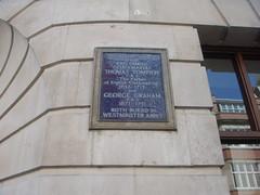 Photo of Thomas Tompion and George Graham blue plaque