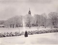 Winter, Solna Church, Uppland, Sweden