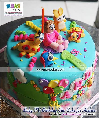 Cake Design Baby Tv : Baby TV Birthday Clip Cake for Andrea_ - Maki Cakes ...