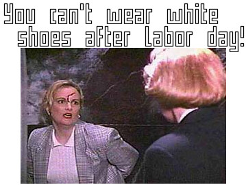 White Shoes After Labor Day Serial Mom