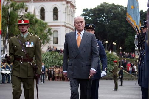 El Rey en una visita de Estado anterior