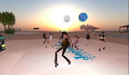 japan resort beach party in second life