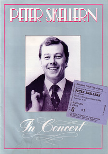 Peter Skellern concert programme & ticket, 1981