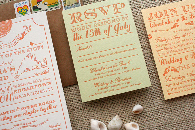 Martha 39s Vineyard Wedding Invitation things are better with a parrott