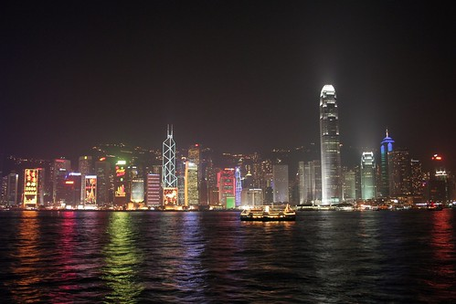 Victoria Harbour Lights, Chinese New Year, Hong Kong