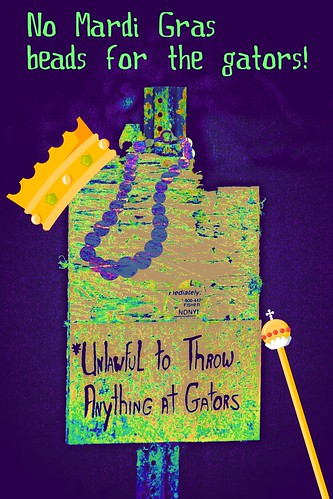 No Mardi Gras beads for the gators!