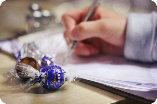 work and chocolate go together quite beautifully