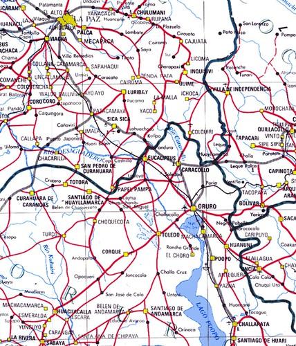 Bolivia Road Map Mapa De Rutas Carreteras Rodovias Vial Flickr