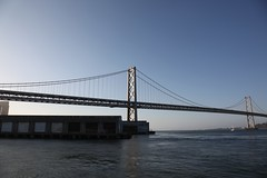suspension bridge, river, bridge, cable-stayed bridge,