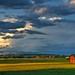 Cumulous Sunset & Fields by david.evenson