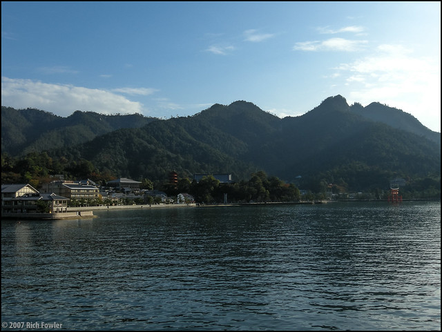 Approaching Miyajima by Ferry