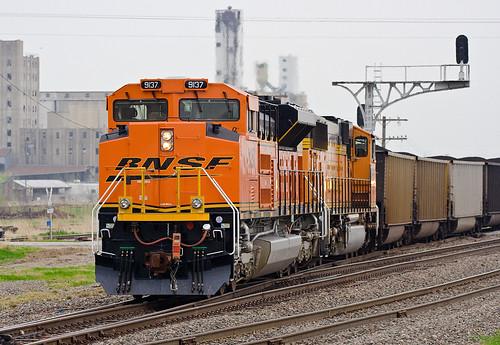 railroad coaltrain orangetrain bnsf9137
