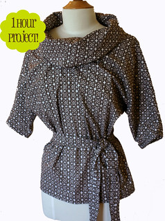 Dolman-sleeved tunic pattern