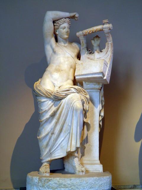 The God Apollo playing the Cithara (Apollo Apollo Citharoedus), Sculpture of Roman Period, Istanbul Archaeology Museum