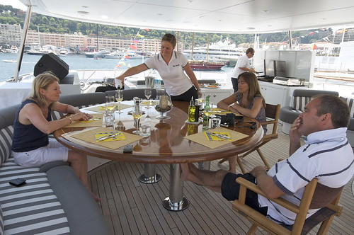 Yacht barbecue, Lunch with Jannie on the Barbecue