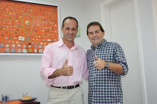 Dilson Santhiago, presidente municipal do Solidariedade em Jarinu (SP) e Paulinho da Força, presidente nacional da legenda