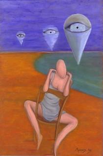 femme assise sur la plage 03