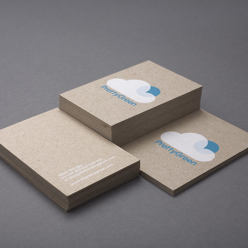 Pretty Green Business Cards | Design Friendship
