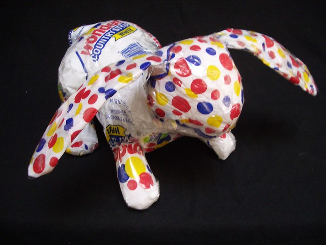 recycled plastic wonderbread bag bunny by diane kurzyna 9