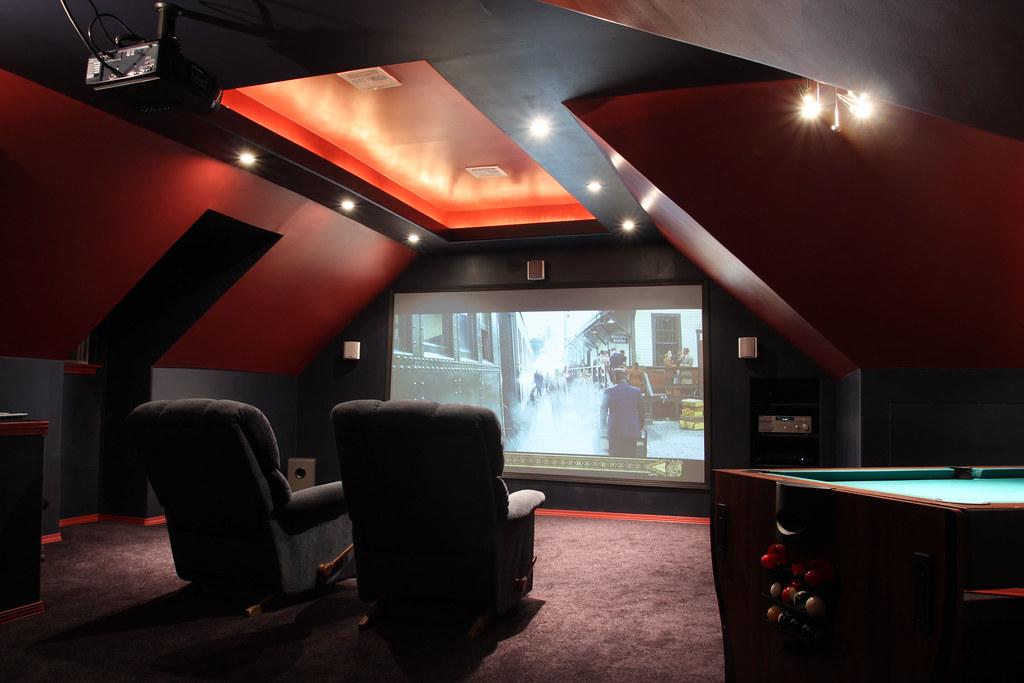 mattflix media room attic theater begins construction. Black Bedroom Furniture Sets. Home Design Ideas