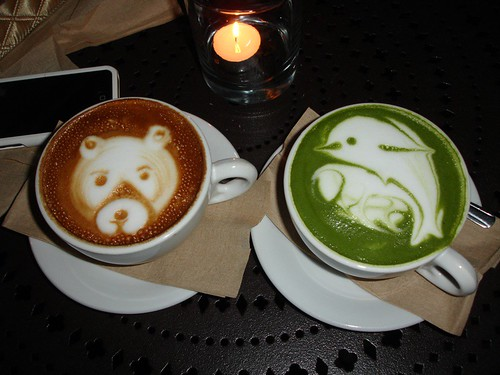 Urth Cafe bear and dolphin! <3