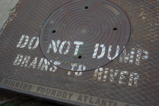 do not dump BRAINS to river.