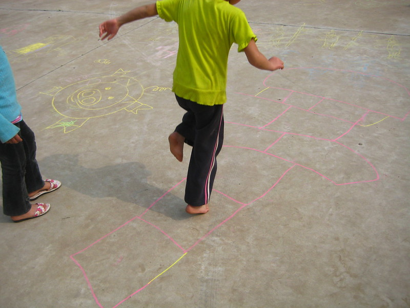 Hopscotch on the Playground