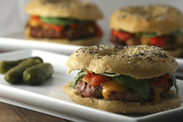 Bagel Burgers | Flickr - Photo Sharing!