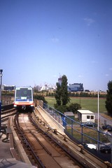 Docklands Light Railway - Car 13 at the DLR  Island Gardens terminus Aug 1990