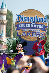 Disneyland Hosts Victory Parade for Los Angeles Lakers