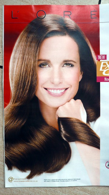 Loreal ad featuring a 65 year old woman who looks 20, Irish Independent Sunday Magazine, Trim, Meath, Ireland.JPG