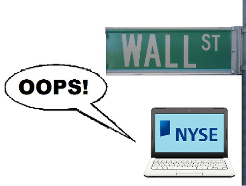 High frequency trading computers, Wall Street Trading Error