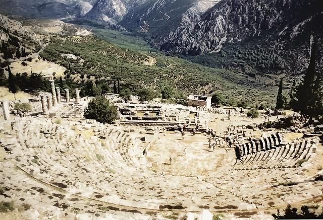 The Theatre and the Temple of Apollo, Delphi