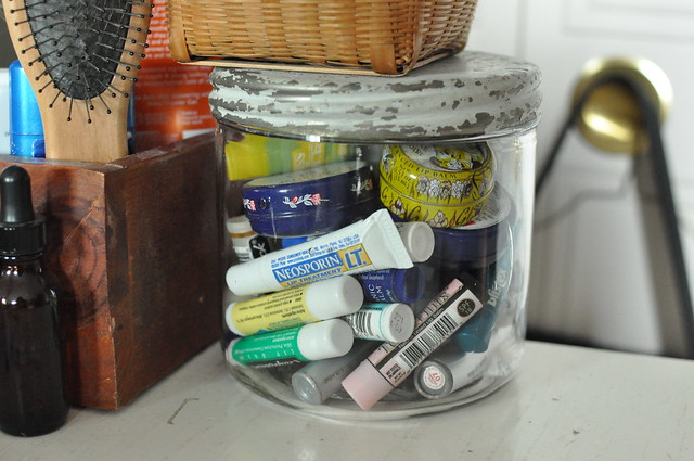 lip balms in a jar