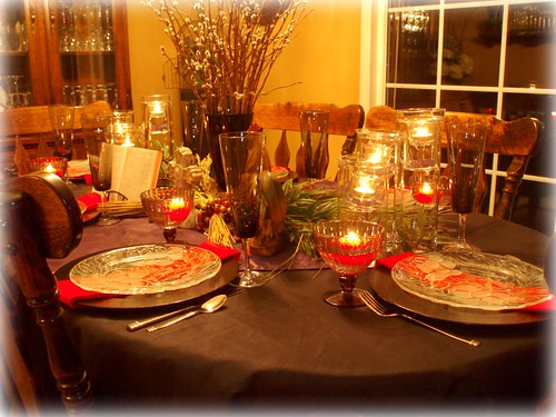 Dining delight a lenten tablescape for Lent decorations for home