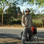 Dan Biking Around Temples in Bagan, Burma
