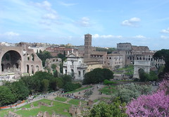 Roman Forum (with a touch of purple), Rome, Italy