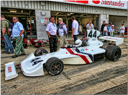 Ex James Hunt 1975 Hesketh 308B Ford Cosworth F1 car Silverstone by Antsphoto