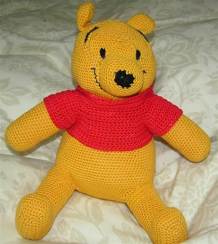 CROCHETED WINNIE THE POOH PATTERN - Crochet and Knitting Patterns