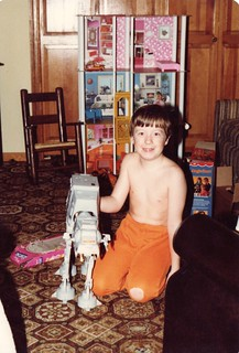 Me with Star Wars AT-AT 1980s Christmas present_1982-12-25