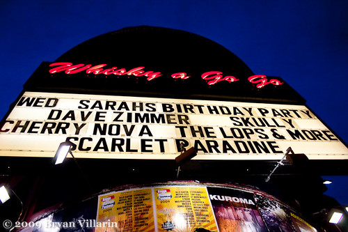 First time on a marquee (incorrect spelling)