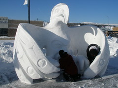 I do believe this snow sculpture is an eagle