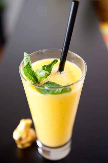 Mango-Mint Limeade Recipe — Dishmaps